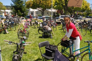 Our free Bicycle Valet Parking service at the Arts & Green Festival is always popular! photo courtesy Matt McHugh