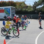 School kids learn how to cycle safely and have fun doing it, while following the rules of the road. courtesy Peggy McQuaid