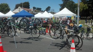 Busy busy busy! Our Bicycle Valet Parking service was hopping all day!