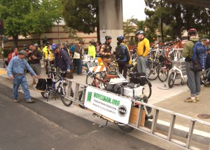 458 people rode by or stopped at our Energizer Station, including local &quot;houseman&quot; Jay Marlette
