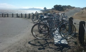 The racks are perfectly situated for folks who want to enjoy the beach, a hike or just enjoy the beautiful view