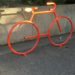 The new Dero Bike Bike Rack at Jewel's Terrace Park.