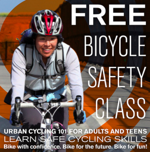 Learn to bike safely and confidently with this FREE class!