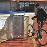 Just roll your bike into any locker at any time for safe storage at 3¢ - 5¢ an hour!