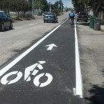 The Buchanan Bike Lane has been repaved and restriped, so is much safer than before! Head on out to the Waterfront!