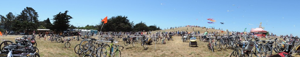 Bikes, bikes, bikes, bikes, bikes, kites, more bikes!! Photo courtesy Rich City Rides