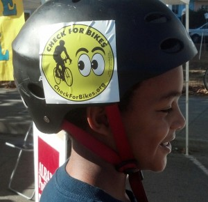 "Our ""Check for Bikes"" bumper stickers and clings were a real hit and help bring awareness of bicyclists on the road to drivers"