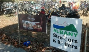 AS&R's volunteers park hundreds of bikes at two lots at the annual Solano Stroll! Please give us a hand this year!