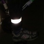 Be seen while you pedal at night and keep your pants legs out of the chain with our new leg bands!