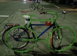 Diners at Cafe Eugene have plenty of bike parking now!
