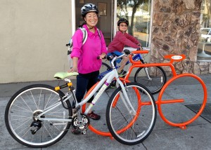 Do you and your family use these Bike Bike Racks? More are coming soon...and you can help! Photo courtesy Amy Smolens