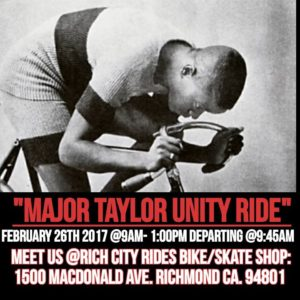 Major Taylor Unity Ride @ Rich City Rides | Richmond | California | United States