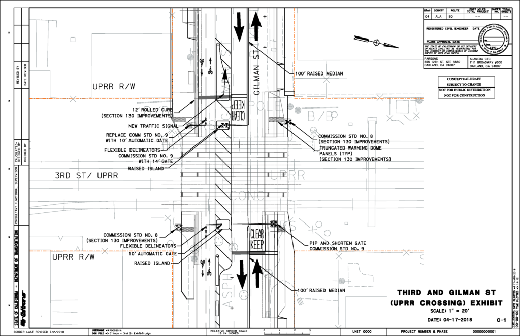Gilman Intersection Improvement Designs Albany Strollers Rollers