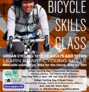 Urban Cycling 101 Classroom Workshop in Albany! @ Albany Library